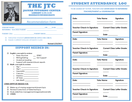JTC RECOMENDATION FORM
